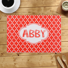 Personalised Quatrefoil Pattern Placemats