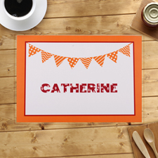 Personalised Orange Birthday Party Banner Placemats