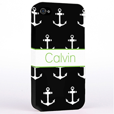Personalised Black And White Cute Anchors Hard Case Cover