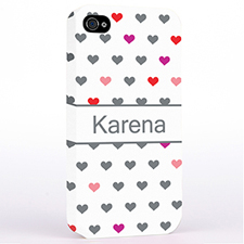 Personalised Colourful Small Hearts Hard Case Cover