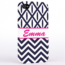 Personalised Black & White Chevron Ikat Hard Case Cover