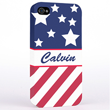 Personalised American Flag Hard Case Cover