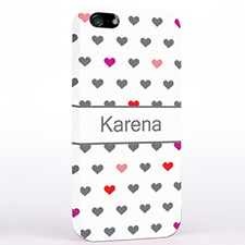 Personalised Colourful Small Hearts iPhone Case