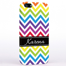 Personalised Colourful Chevron iPhone Case