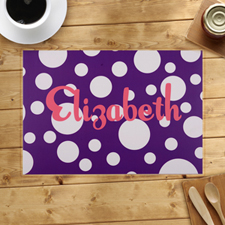 Personalised Purple Polka Dots Placemats