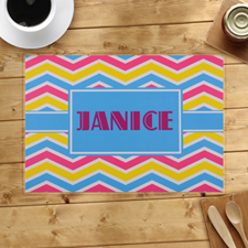 Personalised Chevron Pattern Placemats