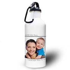 Personalised Photo Black Picture Perfect Water Bottle