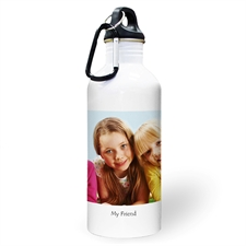 Personalised Photo Photo White Textbox Water Bottle