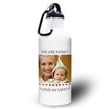 Personalised Photo Little Sweet Hearts Water Bottle