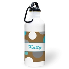 Personalised Photo Boy Polka Dots Water Bottle