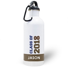 Personalised Photo Chocolate Class Of 2018 Water Bottle