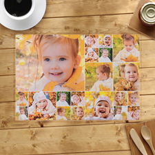 Personalised White Twenty Collage Placemats