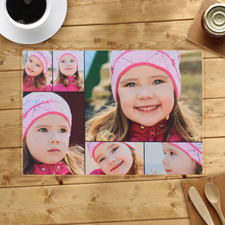 Personalised Black Six Collage Placemats