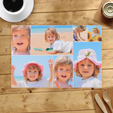 Personalised White Seven Collage Placemats