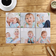 Personalised Six Photo Collage Placemats