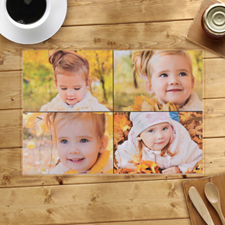 Personalised Four Photo Collage Placemats