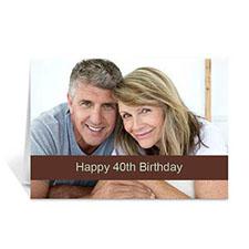 Chocolate Photo Birthday Cards, 5