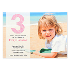 Personalised Having Fun Girl Invitation Card