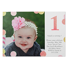 Personalised favourite Girl Real Glitter Personalised Birthday Card
