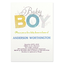 Personalised Baby Boy Party Invitation Card