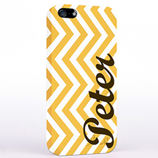 Personalised Yellow Chevron iPhone Case