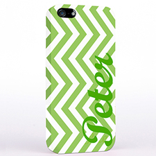 Personalised Lime Chevron iPhone Case