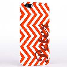 Personalised Red Chevron iPhone Case