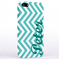 Personalised Aqua Chevron iPhone Case