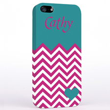 Personalised Aqua Turquoise Chevron iPhone Case