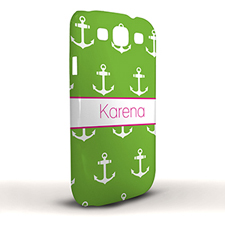 Design Your Own Lime Cute Anchors Samsung Phone Case Cover