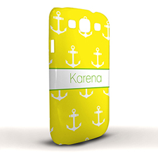 Design Your Own Yellow Cute Anchors Samsung Phone Case Cover