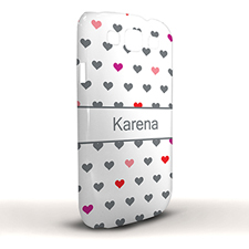 Design Your Own Colourful Hearts Samsung Phone Case Cover