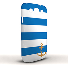 Design Your Own Blue Stripe Orange Anchor Samsung Phone Case Cover