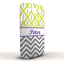 Design Your Own Grey Chevron Lime Ikat Samsung Phone Case Cover