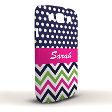 Design Your Own Colourful Chevron Black & White Polka Dots Samsung Phone Case Cover