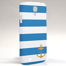 Custom Design Blue Stripe Orange Anchor Samsung Phone Case