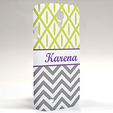 Custom Design Grey Chevron Lime Ikat Samsung Phone Case