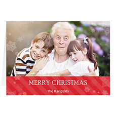 Let it Snow Red Personalised Christmas Greeting Card