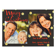 Personalised Glitter Merry Christmas Party Invitation Card