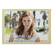 Finishing Highlights Personalised Photo Graduation Announcement Party Invitation Card