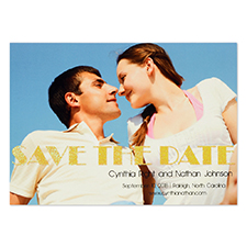 Personalised Perfect Pair Save The Date Cards