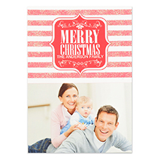 Personalised Merry Christmas Shine Invitation Cards