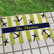 Anchor Personalised Name Door Mat