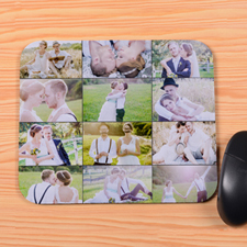 Personalised Black 12 Collage Mouse Pad