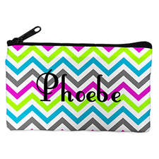 Personalised Colourful Chevron Cosmetic Bag 4