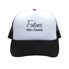 Future Mrs Personalised Trucker Hat, Black