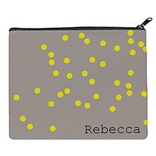 Print Your Own Yellow Natural Polka Dots Bag 8