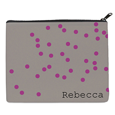 Print Your Own Fuchsia Natural Polka Dots Bag 8