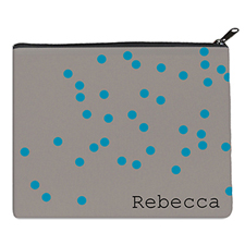 Print Your Own Turquoise Natural Polka Dots Bag 8