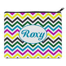 Print Your Own Yellow Colourful Chevron Bag 8